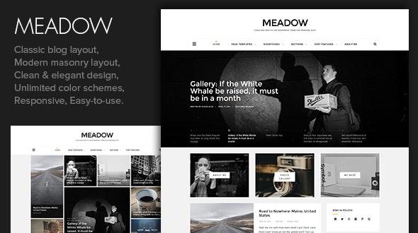 Meadow - Beautiful & Modern Personal Blog Theme - Personal Blog / Magazine