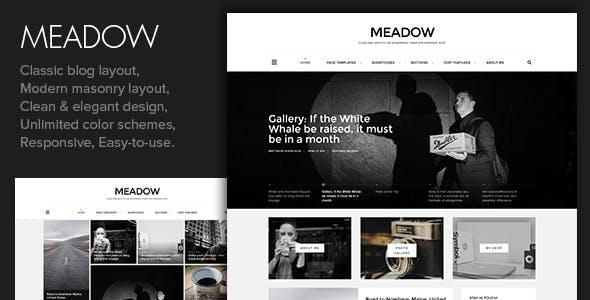 Meadow - Beautiful & Modern Personal Blog Theme