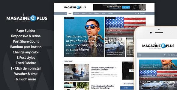 MagazinePlus - WordPress Premium theme for News / Magazine / Newspaper - News / Editorial Blog / Magazine