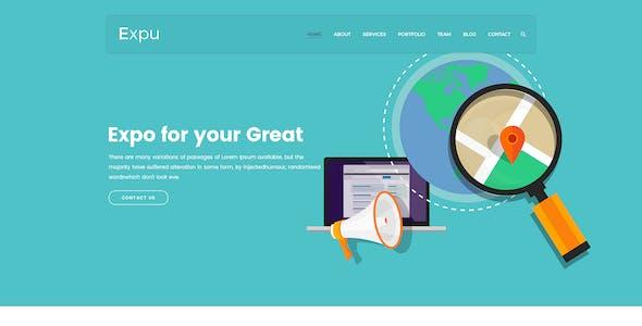 Expu-SEO and Marketing PSD Template