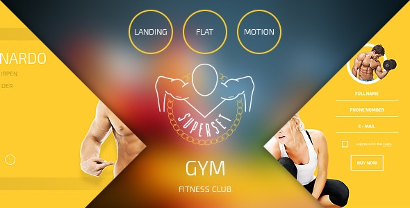 SUPERSET - GYM Landing Page - Health & Beauty Retail