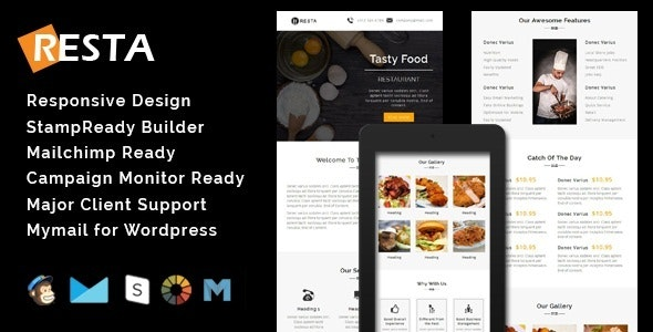 RESTA - Responsive Restaurant Email Template - Email Templates Marketing