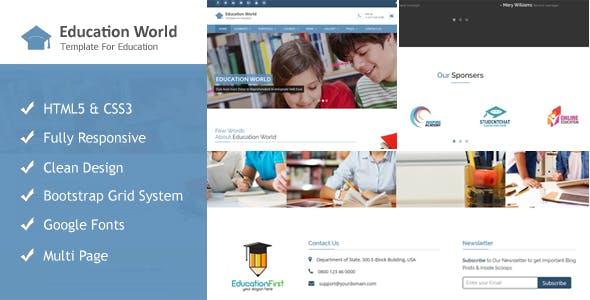 Education World Responsive Html Template