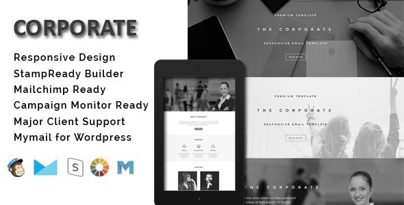 Corporate - Responsive Email Template + Stamp Ready Builder - Email Templates Marketing