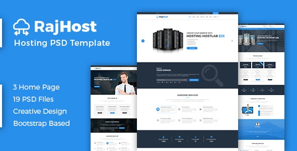 RajHost - Web Hosting with PSD Template - Hosting Technology