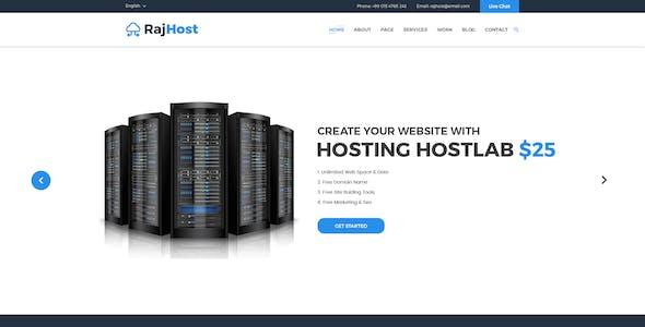 RajHost - Web Hosting with PSD Template
