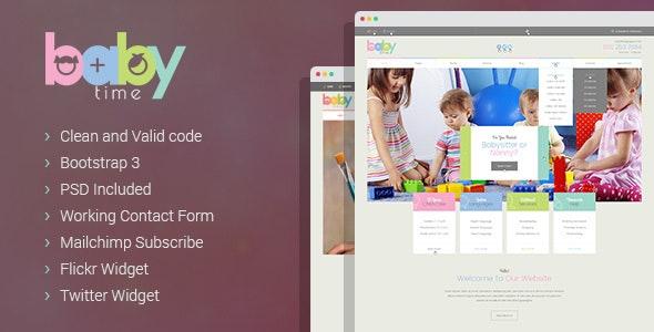 BabyTime - Babysitter & Nurse HTML Template - Miscellaneous Site Templates