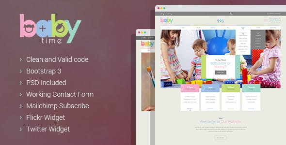 BabyTime - Babysitter & Nurse HTML Template