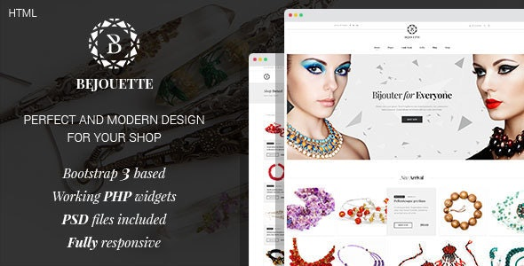Bejouette - Handmade Jewelry Designer HTML Template - Retail Site Templates