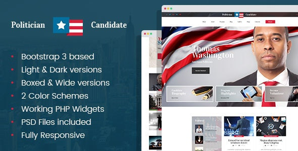 Political Candidate & Elections Campaign HTML template - Political Nonprofit