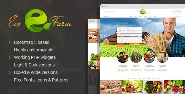 Eco Farm - Organic Food Growing HTML Template - Business Corporate