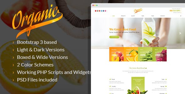 Organic - Farming and Agriculture HTML Template