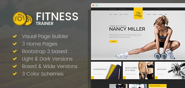 Sport Trainer - Yoga and Crossfit HTML template with Builder - Health & Beauty Retail