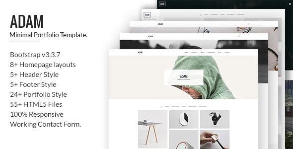 Adam - Minimal Portfolio Template - Portfolio Creative