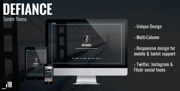 Defiance - Unique & Daring Tumblr Theme