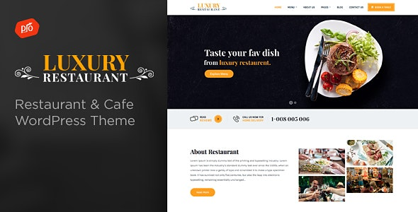 Luxury - Restaurant & Cafe Theme - Restaurants & Cafes Entertainment