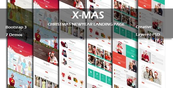 X-MAS - Multipurpose Responsive HTML Landing Page - Landing Pages Marketing