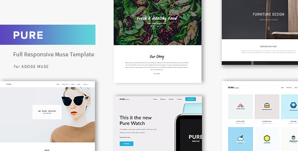 Pure - Responsive Creative Portfolio Muse Template