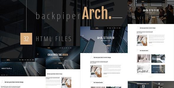 BackpiperArch - Architecture, Interior, Portfolio HTML Template - Business Corporate