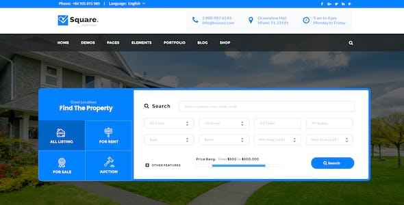 Square - Professional Real Estate PSD Templates