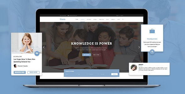 Fiora Education PSD Template - PSD Templates