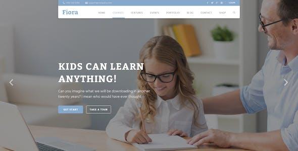 Fiora Education PSD Template