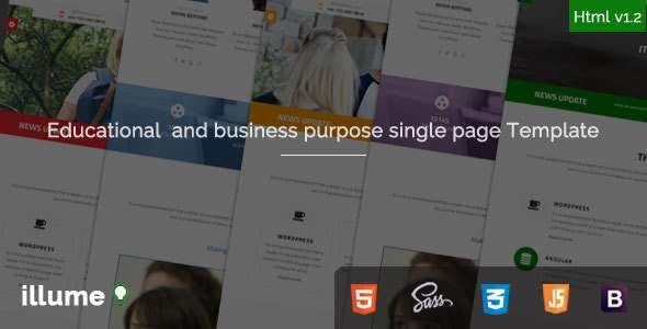 Illume - Single Page Educational / Business Purpose Bootstrap Html5 Template - Business Corporate