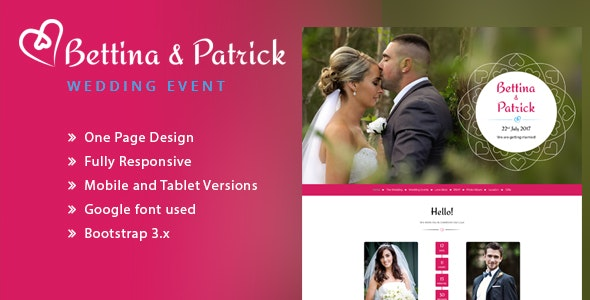 Wedding Invitation Responsive HTML Template - Wedding Site Templates