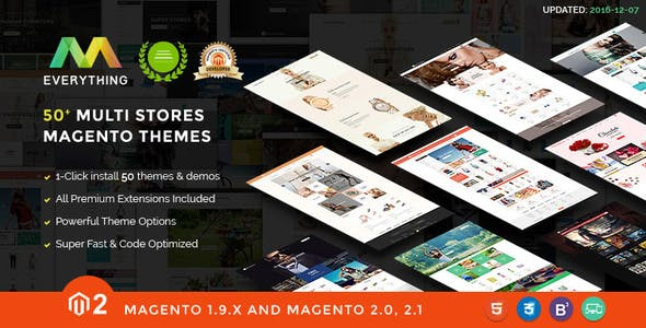 Magento 2 Themes & Magento 2.2, 2.1, 1.9 - 50+ Templates - Multi-Purpose Responsive | EVERYTHING - Shopping Magento