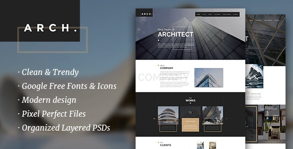 Arch. - Architecture / Architect / Photography Theme - Creative Photoshop