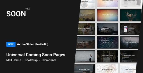 Coming Soon Template - Specialty Pages Site Templates