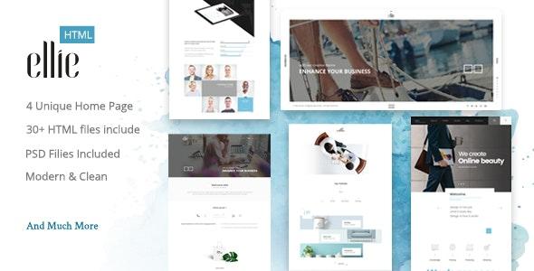 Ellie Creative HTML Template - Creative Site Templates