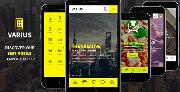 Varius - Mobile and Tablet Creative Template - Mobile Site Templates