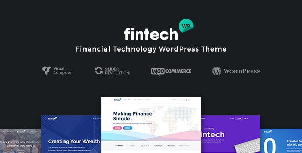 Fintech WP - Financial Technology and Services WordPress Theme - Business Corporate