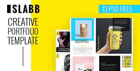 Slabb — Creative Portfolio PSD Template - Portfolio Creative