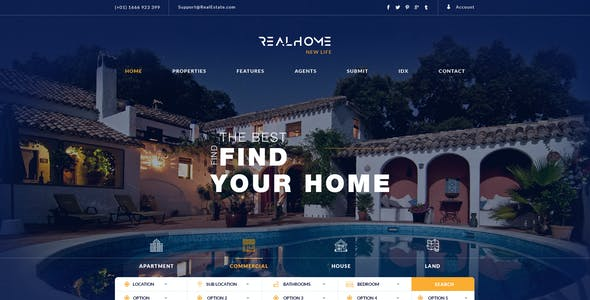 RealHome - Versatile Real Estate PSD Template