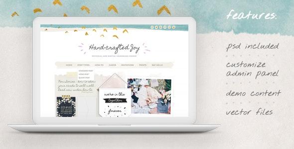 Hand-crafted Joy WordPress Theme - Personal Blog / Magazine