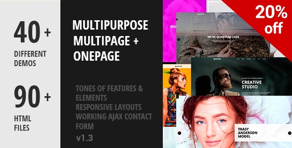 Multipurpose - Business & Corporate, Blog & App Showcase Template - Corporate Site Templates