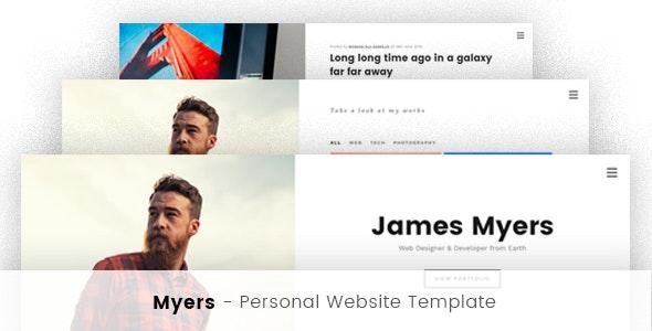 Myers - Responsive vCard / Resume / CV WP Theme - Personal Blog / Magazine