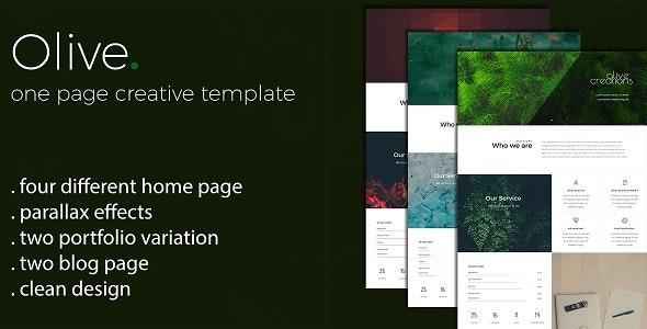 Olive - One Page Multi Purpose Template - Creative Site Templates