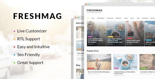Freshmag - Clean WordPress Magazine Theme - News / Editorial Blog / Magazine