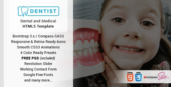 Dentist - Dental & Medical One Page HTML Template - Health & Beauty Retail