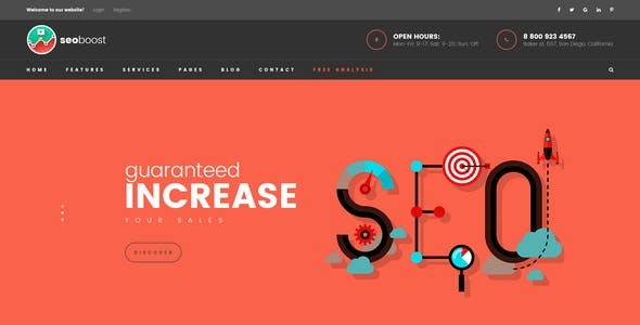 SEO Boost - Digital Marketing Company PSD Template