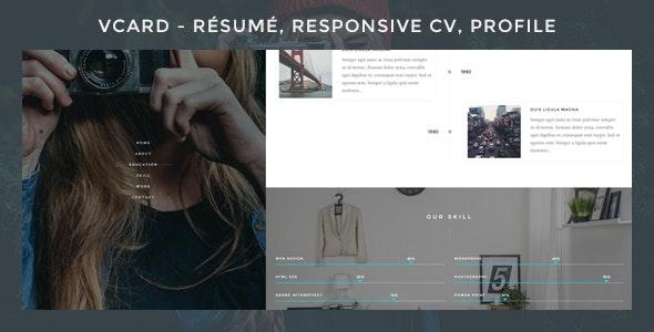 Vcard - Responsive CV WordPress Theme - Portfolio Creative
