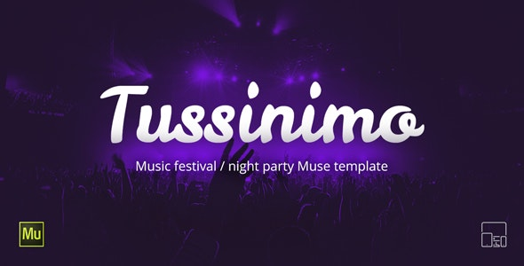 Tussinimo - Music Festival Muse Template - Landing Muse Templates