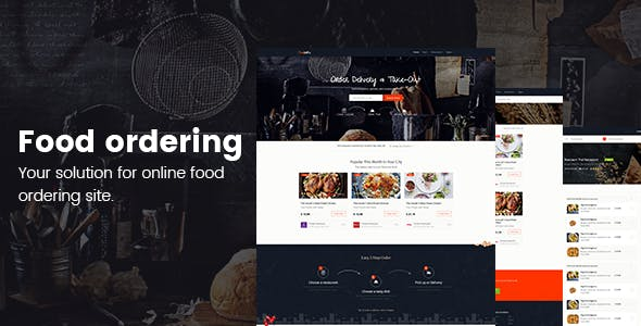 Zomato Website Templates from ThemeForest