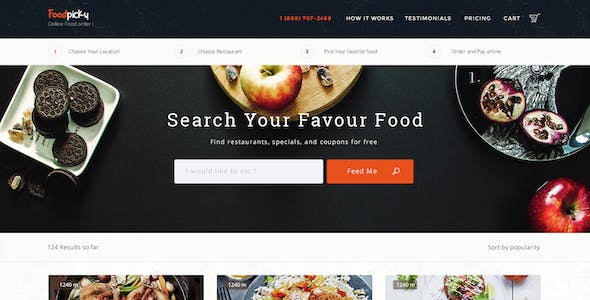 Justeat Website Templates from ThemeForest