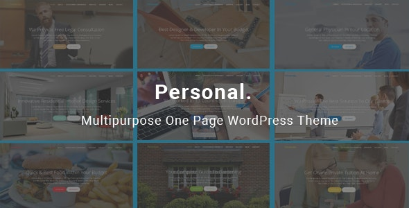 Personal - Multipurpose One Page WordPress Theme - Creative WordPress