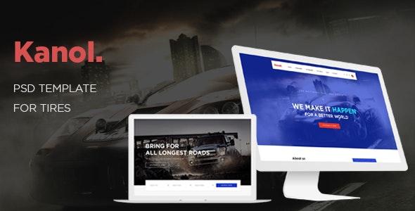 Ap Kanol - eCommerce PSD Template - Retail Photoshop