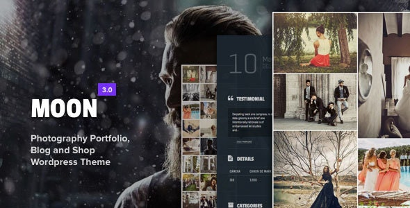 Moon - Photography Portfolio Theme for WordPress - Photography Creative
